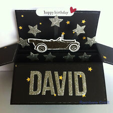 Handmade birthday card for him | Father's day card | sentiments customized