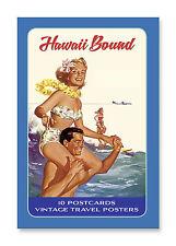 10 Postcard Set - Vintage Hawaiian Art - Hawaii Bound 2