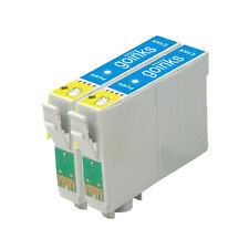 2 Cartucce d'Inchiostro Ciano per Epson Stylus D68 DX3800 DX4200 DX4800