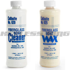 New Collinite #920 Automotive Care Fiberglass Boat Cleaner & #925 Wax Polish