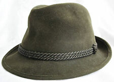 GERMANY-VINTAGE AUTHENTIC MEN'S FEDORA HAT SIZE:US 6 7/8 EU 55