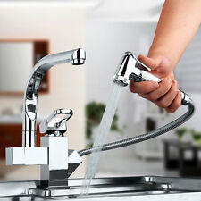 Mordern 360° Pull Out Swivel Spout Kitchen Sink Vessel Faucet Mixer Chrome Tap