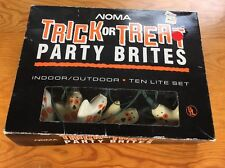 Vintage Halloween Party Lights Noma Indoor Outdoor 10 Lights