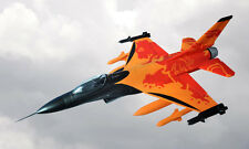 LX 1.3M RC Orange F16 Fighting Falcon KIT Model Plane with Vector Vents EPS