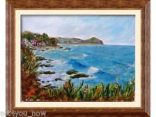 WINTER IN MALIBU California Art oil on canvas 9x12 Galina Zaytseva Free Shipping