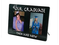 "Graduation Photo Frame ""Our Graduate Then And Now"" Holds 2 3 1/2"" x 5 1/2"" Pics"
