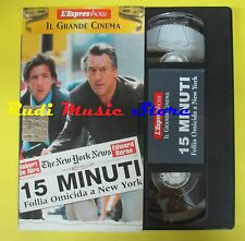 film VHS cartonata 15 MINUTI Follia omicida a new york L'ESPRESSO (F15) no dvd