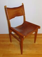 Vtg 1950's Birch and Leather Nail Head Chair Finland Mid Century Modern