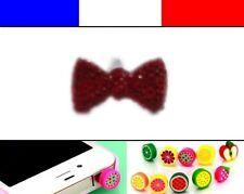 Cache anti-poussière jack universel iphone capuchon bouchon Noeud Rouge Foncé 2