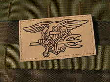 Patch Velcro US - NAVY SEAL - TAN / sable - airsoft MARINE commando DELTA ACU