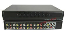 AV Audio Video switch selector 8 in 2 out