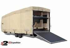 S2 Expedition Premium Toy Hauler RV Trailer Cover - Fits 33' - 34' Length - Tan