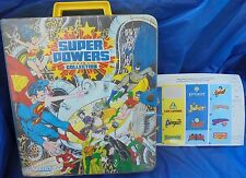 DC Super Powers Collection Case Volume 1 With Sticker Sheet 1984 Kenner Vintage