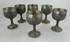 German Wine Pewter Rein Zinn hunting goblet. Other scenes