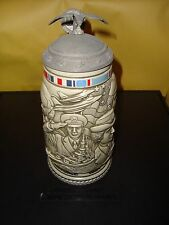 Tribute to The American Armed Forces Beer Stein 1990 Avon Collection Near Mint