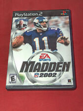 Madden NFL 2002 Sony PlayStation PS2, 2001 Video Game W/ Instructions Tested
