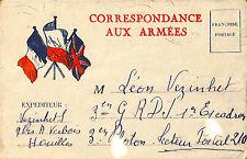 GUERRE 39/45 CORRESPONDANCE CARTE FRANCHISE MILITAIRE 1939