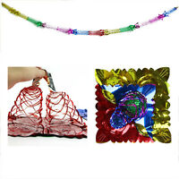 4X Christmas Foil Ceiling Garland Hanging Xmas Decoration Multi Colour 2015 New