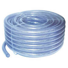 6mm ID Clear  PVC Braided Hose 1 Metre - Garden Pipe  Air Water Washer Tube Pond