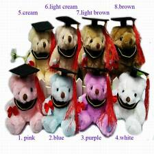 "5.7"" Plush Joint Graduation Teddy Bear doll Diploma with book and hat 8pcs/lot"