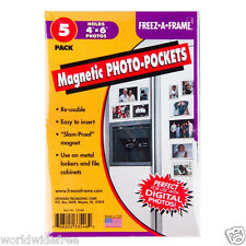 6 x Freez-A-Frame 4 x 6 Magnetic Photo Pockets 5-pack -Bulk Sale
