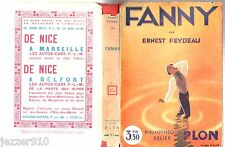 ERNEST FEYDEAU ° FANNY ° BIBLIOTHEQUE RELIEE PLON n°67 + jaquette