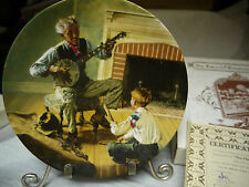 Norman Rockwell Plate by Knowles The Banjo Player-org Box - Collector Plate