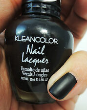 1PC Kleancolor Nail Polish Lacquer #265 MADLY BLACK/ MATTE BLACK POLISH