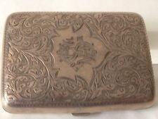 Porta-sigarette in argento 925. Inghilterra 1900/1904