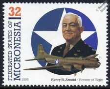 Boeing B-17  Flying Fortress Henry Arnold WWII Aircraft Stamp (1995 Micronesia)