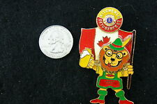 OKTOBERFEST KITCHENER LION WITH CANADIAN FLAG PIN