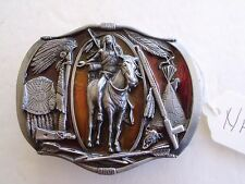 BELT BUCKLE VINTAGE NATIVE AMERICAN INDIAN, MADE USA 1984 BERGAMOT MAKER NA-4