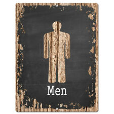 PP4207 MEN RESTROOM Tin Chic Sign Store Shop Cafe  Restaurant Restroom Decor