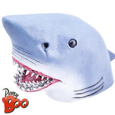 Shark Head Mask Adults Fancy Dress Sea Animal Mens Ladies Halloween Costume Mask