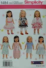"Simplicity 1484 Sewing PATTERN for 18"" American Girl DOLL CLOTHES 7 Styles NEW"