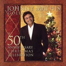 Johnny Mathis Gold-50th Anniversary Xmas CD-Brand New w/Free Shipping!
