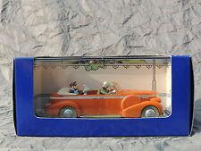 Voiture TINTIN Atlas réf. 015. Le Taxi de New-Delhi de Tintin au Tibet. Cadillac
