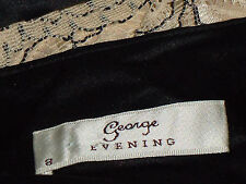 GEORGE Evening StrappyNudeLacePartyDress8 EUC