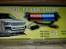 Police , dash led strobe light blue & white