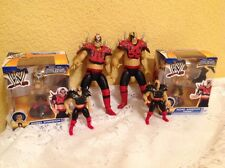 WWE WWF ROAD WARRIORS LOT MINI BOBBLEHEADS & WRESTLING FIGURES ANIMAL & HAWK