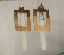 "Robert Lee Morris RLM Studio 2 1/4"" Sterling Silver Brass Hammered Drop Earrings"