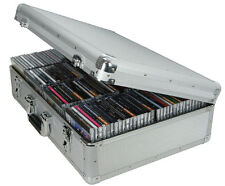 Aluminium CD Flight Storage Case - Holds 120 CDs ideal for travel music DJ