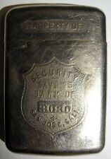 "20s 30s Advertising Bank - ""Security Savings Bank of San Jose, Cali."" #3080"