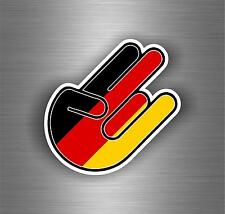 Sticker decal tuning jdm hand shocker bomb car moto motorcycle flag germany