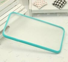 For iPhone 6 / 6S - HARD TPU RUBBER GUMMY CASE SKIN COVER TURQUOISE GREEN CLEAR