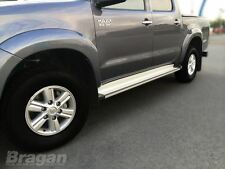 2005 - 2012 Toyota Hilux Polished Aluminium Side Step Running Boards Bars