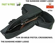 Pistol Crossbow Case Padded Pistol Xbow Bag For 50lb To 80lb Pistol Bows New UK