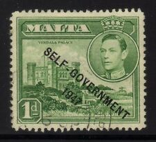 [JSC]1947 Malta Self Government KGVI Verdala Palace 1d