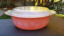 Pink Pyrex DAISY 043 1½ Quart Oval Casserole With Lid
