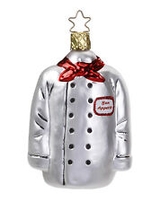 """Inge Glas """"Chef's Jacket"""" Glass Ornament - Made in Germany (#181)"""